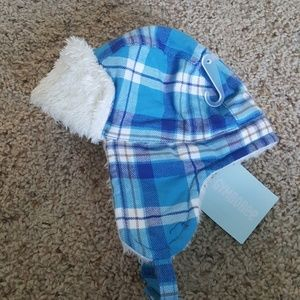 83960ee334aee Gymboree Accessories - Gymboree Blue Plaid Winter Hat with Ear Flaps